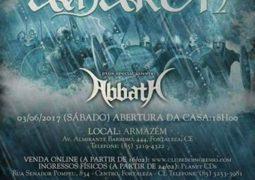 Amon Amarth e Abbath se apresentam em Fortaleza no dia 03 de Junho de 2017