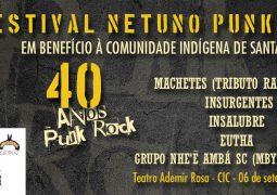 Festival Netuno Punk Rock 40+ acontecerá em benefício de comunidades indígenas de Santa Catarina