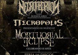 Necropolis: Show de lançamento de novo EP e estreia de novo guitarrista