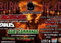 """Dust Commando: tocando no """"Burn Head Festival"""" neste sábado"""