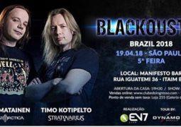 Kotipelto & Liimatainen: Blackoustic em São Paulo!