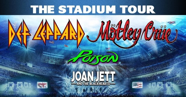 "É oficial: A ""The Stadium Tour"" do MÖTLEY CRÜE, DEF LEPPARD e ..."